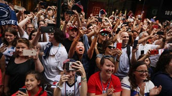 Women's World Cup champions celebrate with NYC parade and their fans love every minute of it.