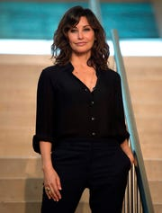 US actress Gina Gershon poses during a photocall in the northern Spanish Basque city of San Sebastian, where US director Woody Allen will start shooting his yet-untitled next film, on July 9, 2019.