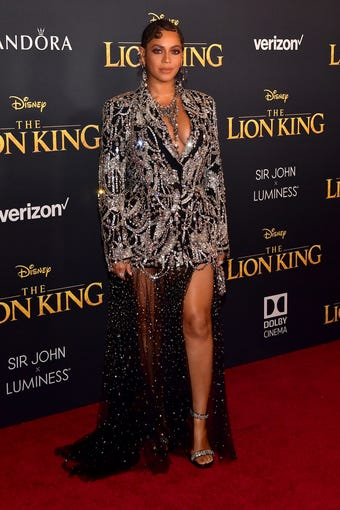 "HOLLYWOOD, CALIFORNIA - JULY 09: Beyoncé attends the premiere of Disney's ""The Lion King"" at Dolby Theatre on July 09, 2019 in Hollywood, California. (Photo by Matt Winkelmeyer/Getty Images) ORG XMIT: 775350860 ORIG FILE ID: 1161071232"