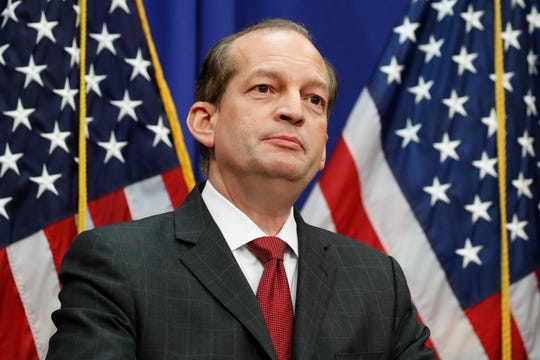 Labor Secretary Alex Acosta announced Friday he is resigning.