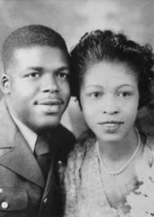 Danny Glover's parents, James and Carrie Glover, in 1944.