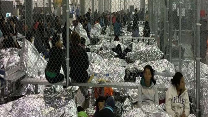 Overcrowding on June 11 at the Border Patrol's McAllen, Texas, Centralized Processing Center observed by Office of Inspector General staff.