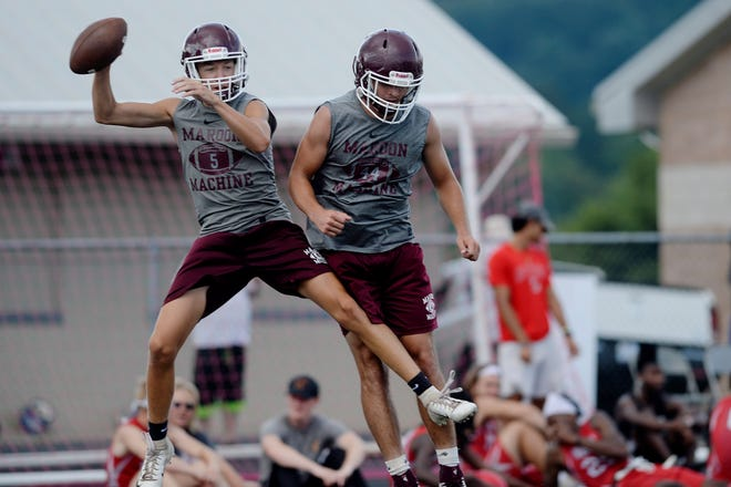 Scenes from the 7 on 7 football tournament at Erwin High School July 9, 2019.