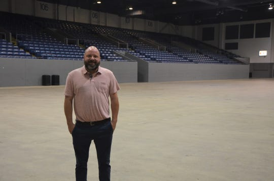 Ben Randels was recently named general manager of the Kellogg Arena. He hopes to add events to the arena's calendar that bring in more local people.