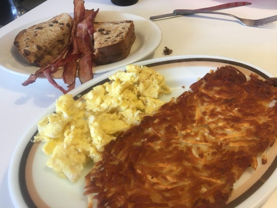 You can get breakfast all day at Kate's Diner in Marshall