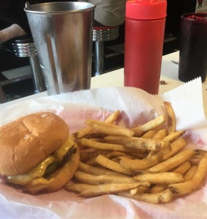 Feel like you are back in the 1950s at your favorite malt shop with a burger and fries and a chocolate shake at Kate's Diner in Marshall.