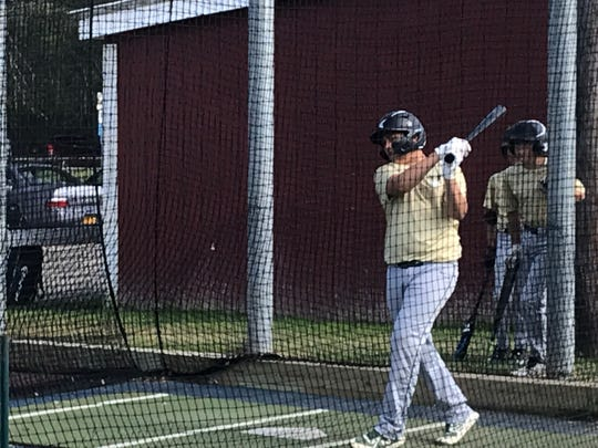 Vestal's Barrett Scanlon takes some cuts in the batting cage Wednesday at Owego's Little League complex. Vestal will begin play in the Section 1 East Tournament on Saturday at Cortland.