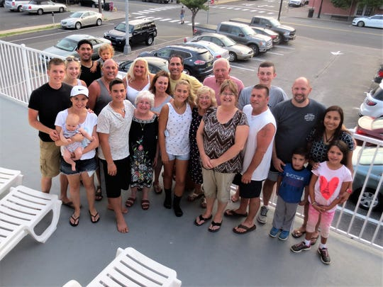 Bill Sullivan and his family enjoyed taking trips to the Jersey Shore.