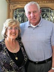 Bill Sullivan, right, with his wife, Gloria.