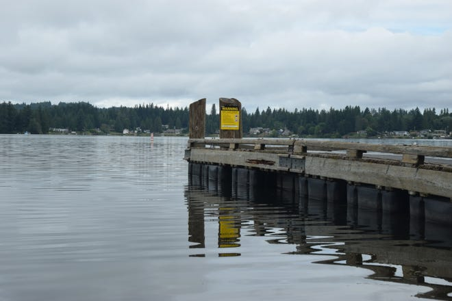 The fishing dock at Kitsap Lake Park is among the amenities that will be replaced during a $1.6 million facelift the park will get starting this fall.