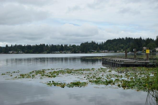 Kitsap Lake fishing dock.