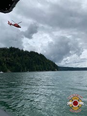 Crews searched Hood Canal Thursday for a missing man.