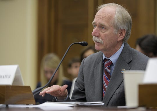 Former NASA Associate Administrator for the Human Exploration and Operations Mission Directorate William Gerstenmaier testifies during a House Committee on Science, Space, and Technology hearing on Thursday, May 17, 2018 in Washington.