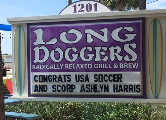 Congratulations were in order for former Satellite High soccer star Ashlyn Harris.