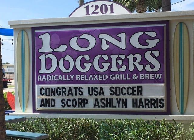 Congratulations were in order for former Satellite High soccer star Ashlyn Harris.
