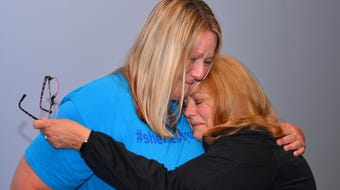 """""""You're stronger than you think you are."""" Almost a year later, cancer survivor Shellie Chapman reunites with the mystery nurse who inspired her"""