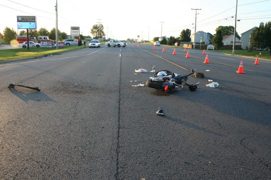 A motorcycle was involved in a fatal crash July 2, 2016, on Tiny Town Road and Cainlo Drive in Clarksville.