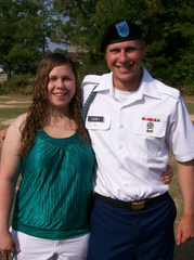 Lee Casey with her brother, who died by suicide in 2017.