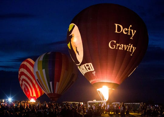 The Greatest Glow on Earth, the nighttime hot air balloon glow, at the QuickChek New Jersey Festival of Ballooning.