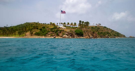 A view of Little St. James Island, in the U. S. Virgin Islands, a property owned by Jeffrey Epstein.