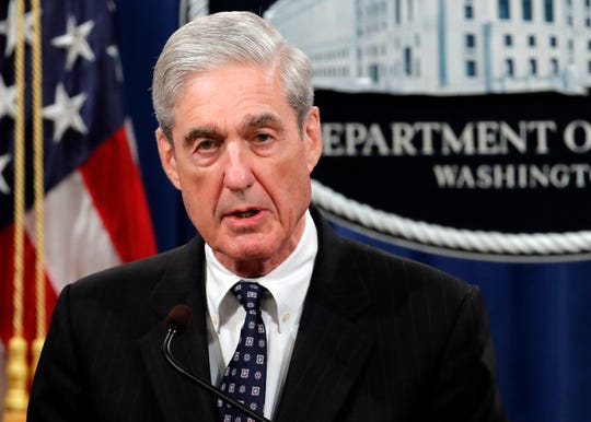Special counsel Robert Mueller speaks at the Department of Justice in Washington, about the Russia investigation on May 29, 2019.