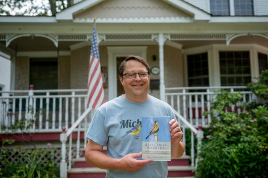 Bill Rapai, a book author and chairman of the board of the Kirtland's Warbler Alliance, at his home in Grosse Pointe. The Kirtland's warbler is about to be taken off the endangered species list.