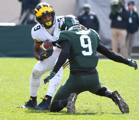 Donovan Peoples-Jones and Michigan host Michigan State on Nov. 16.