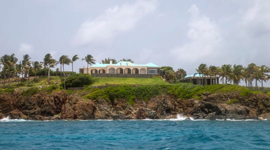 A structure on Little Saint James Island, in the U. S. Virgin Islands.