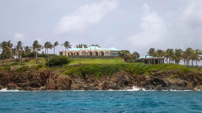 A structure on Little Saint James Island, in the U. S. Virgin Islands.