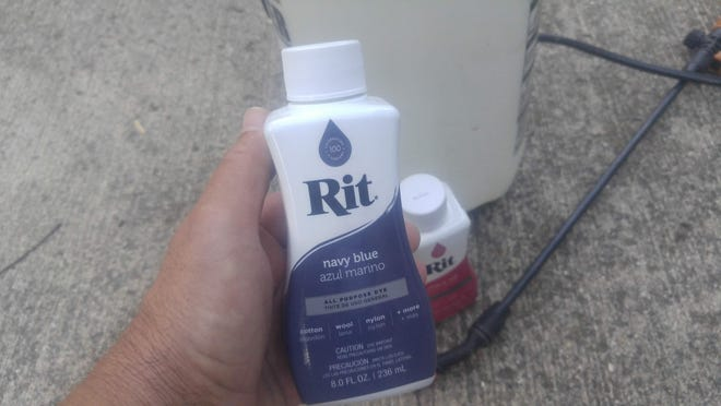 Liquid Rit dye is easier to use than the dry formula.
