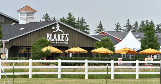 Employees set up for Blake's Lavender Festival at Blake's Orchard, 17985 Armada Center Rd. in Armada Twp., Wednesday afternoon The festival will be 10 a.m. to 5 p.m. Friday through Sunday.