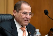 In this June 26, 2019, file photo, House Judiciary Committee Chairman Jerrold Nadler, D-N.Y., takes his seat for a hearing on Capitol Hill. The House Judiciary Committee is moving to authorize subpoenas for several people tied to special counsel Robert Mueller's report, including President Donald Trump's son in law, Jared Kushner, and former Attorney General Jeff Sessions.