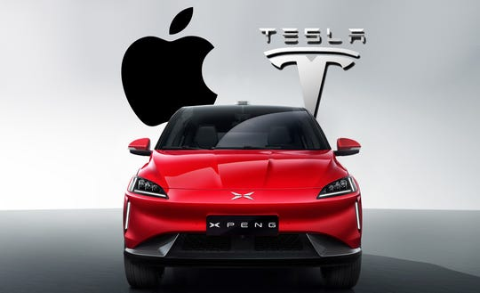Tesla Inc. and Apple Inc. both suspect they were betrayed by driverless technology engineers who defected to the same Chinese startup