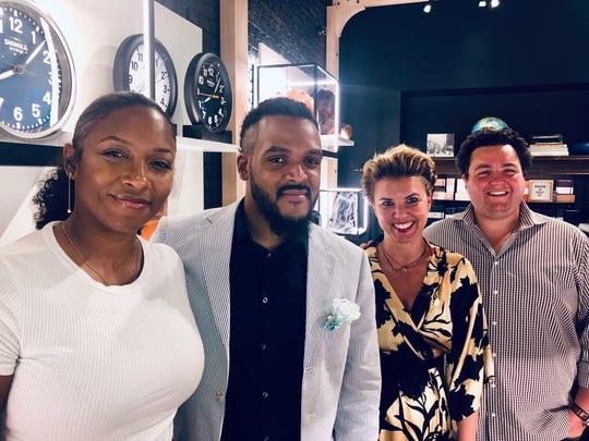 Artist Ijania Cortez, Myron Watkins, Ivana Kalafatic, Sanford E. Nelson