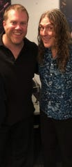 Trombonist John Rutherford and Weird Al Yankovic.