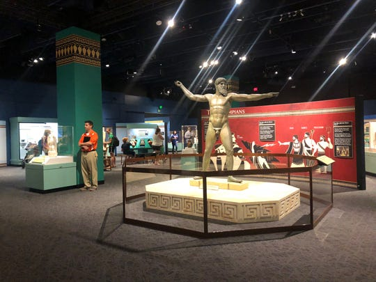 """""""Treasures of Ancient Greece"""" features more than 150 ancient sculptures, mosaics, vases and pieces of jewelry — many that have never been outside Greece before."""