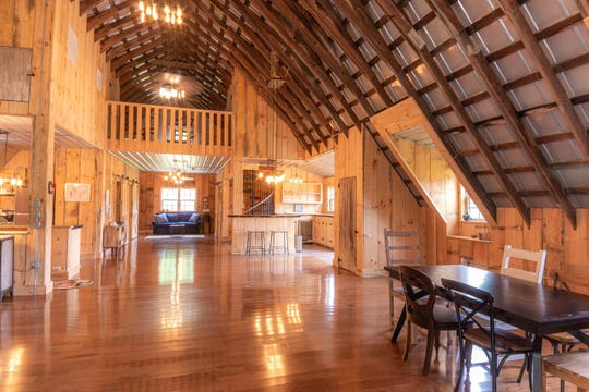 This barn house in Nashville, Indiana is minutes from the beloved Brown County State Park.