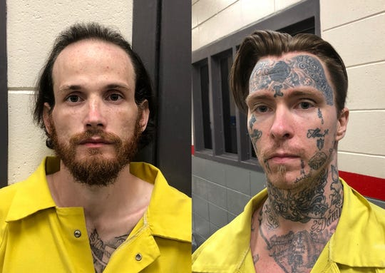 Escapees Christopher Benson High, left, and Jonathan Blankenship were captured in Meridian, Mississippi, on July 10, 2019.