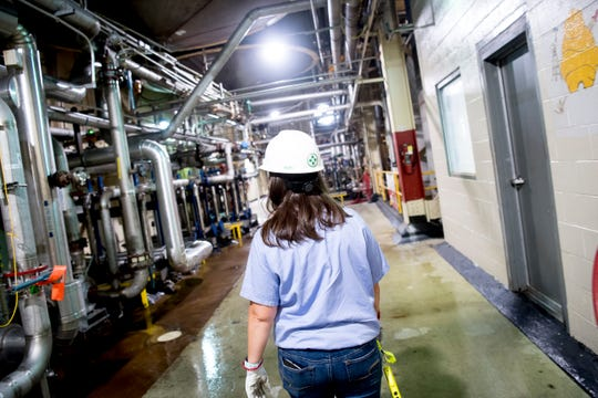 "Arial Ruble does her rounds inside the corn syrup processing plant at Tate & Lyle in Loudon, Tennessee on Thursday, July 11, 2019. Ruble was recently recognized by Putman Media in its ""Most Influential Women in Manufacturing Class of 2019."""