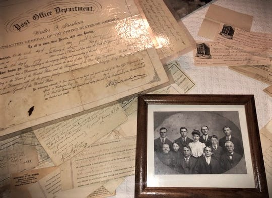 Benna Boring shared a treasure trove of old documents and this photo showing her father's only aunt. Surrounded by her brothers, Annie Boring (Smith) was the first graduate of Farragut High School and the only one in the class.