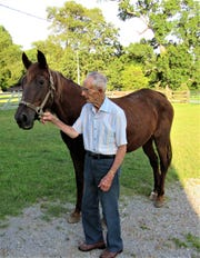 "Thirty-year-old Dixie, fondly called ""3.0,"" is a descendant of the original ""Dixie,"" one of Ben Boring's first horses."