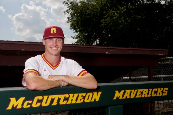 McCutcheon's Connor Ayers is the Journal & Courier Big School Baseball player of the year, Wednesday, July 10, 2019, in Lafayette.
