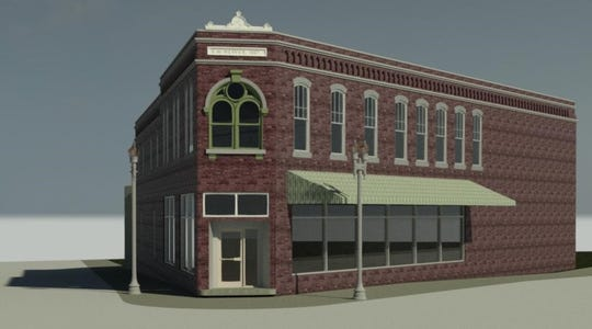 This computer model of the E.M. Weaver Building was created by Clark Cory, a Purdue professor, in anticipation that the structure, built in 1867, was on the brink of demolition.