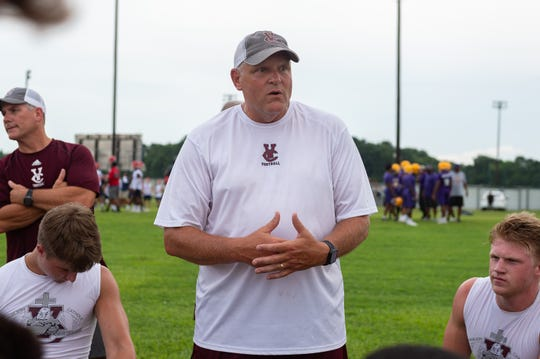 Kevin Fouquier- Vermillion Catholic Football at the Quick Slants All Acadiana 7 on 7 High School Football Tournament. Wednesday, July 10, 2019.