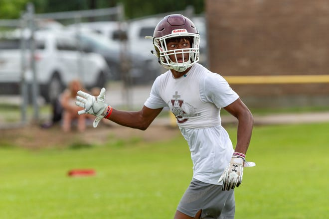 Vermilion Catholic wide receiver Blair Turner hopes to be the next big playmaker for the Eagles.