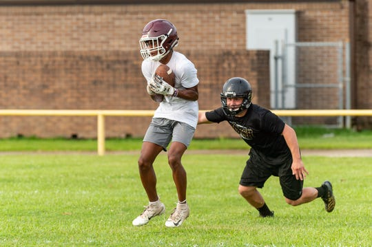 Blair Turner of Vermilion Catholic is shown during the QuickSlants 7-on-7 football tournament July 10.