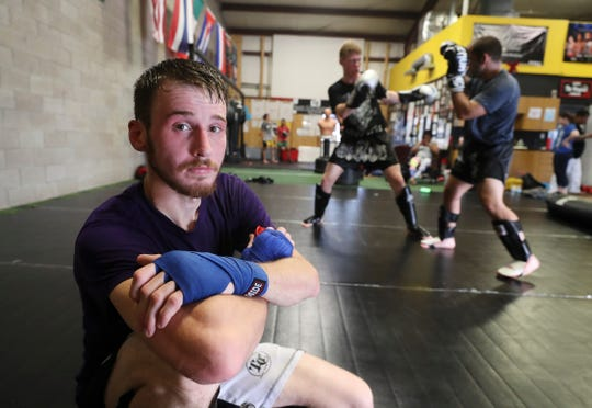 MMA fighter Lance Lawrence is preparing for an upcoming match that could qualify him for a UFC contract if he wins. He trains at the Apex Martial Arts Academy in Bullitt County. June 26, 2019