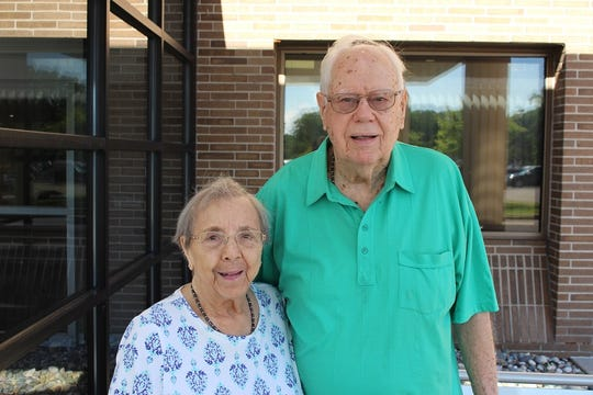 Bob and Mary met on a blind date when Mary was a senior in high school, and the rest is history. They celebrated their 70th wedding anniversary on July 15, 2019.