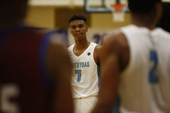 Class of 2020 five-star power forward Isaiah Todd looks on during Peach Jam on Thursday in North Augusta, South Carolina.