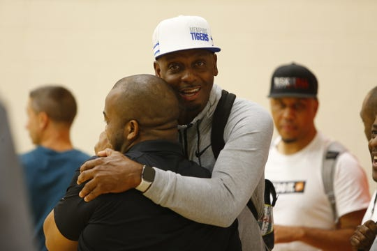 Memphis basketball coach Penny Hardaway was once again a popular figure at the Peach Jam.